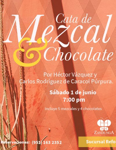 Cata de Mezacal y Chocolate